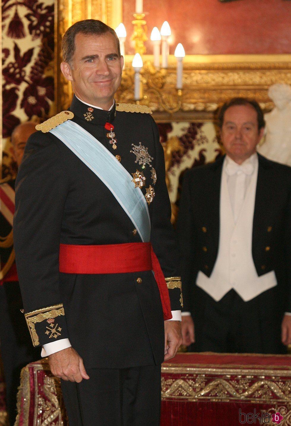 El Rey Felipe y Jaime Alfonsín