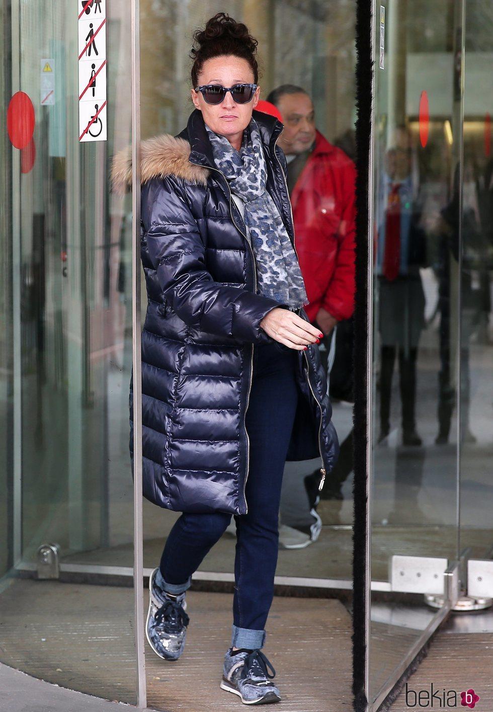 Dulce Delapiedra a la salida del juzgado de Barcelona tras el juicio