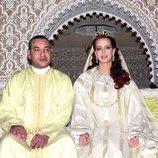 Mohamed VI y Lalla Salma de Marruecos en su boda