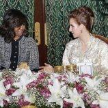 Lalla Salma de Marruecos, en una comida junto a Michelle Obama