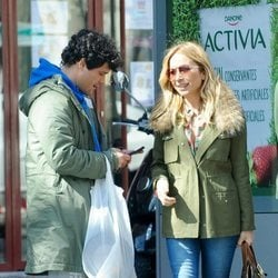 Marta Sánchez de paseo con Miguel Abellán por las calles de Madrid