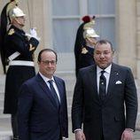 El Rey Mohamed VI y François Hollande