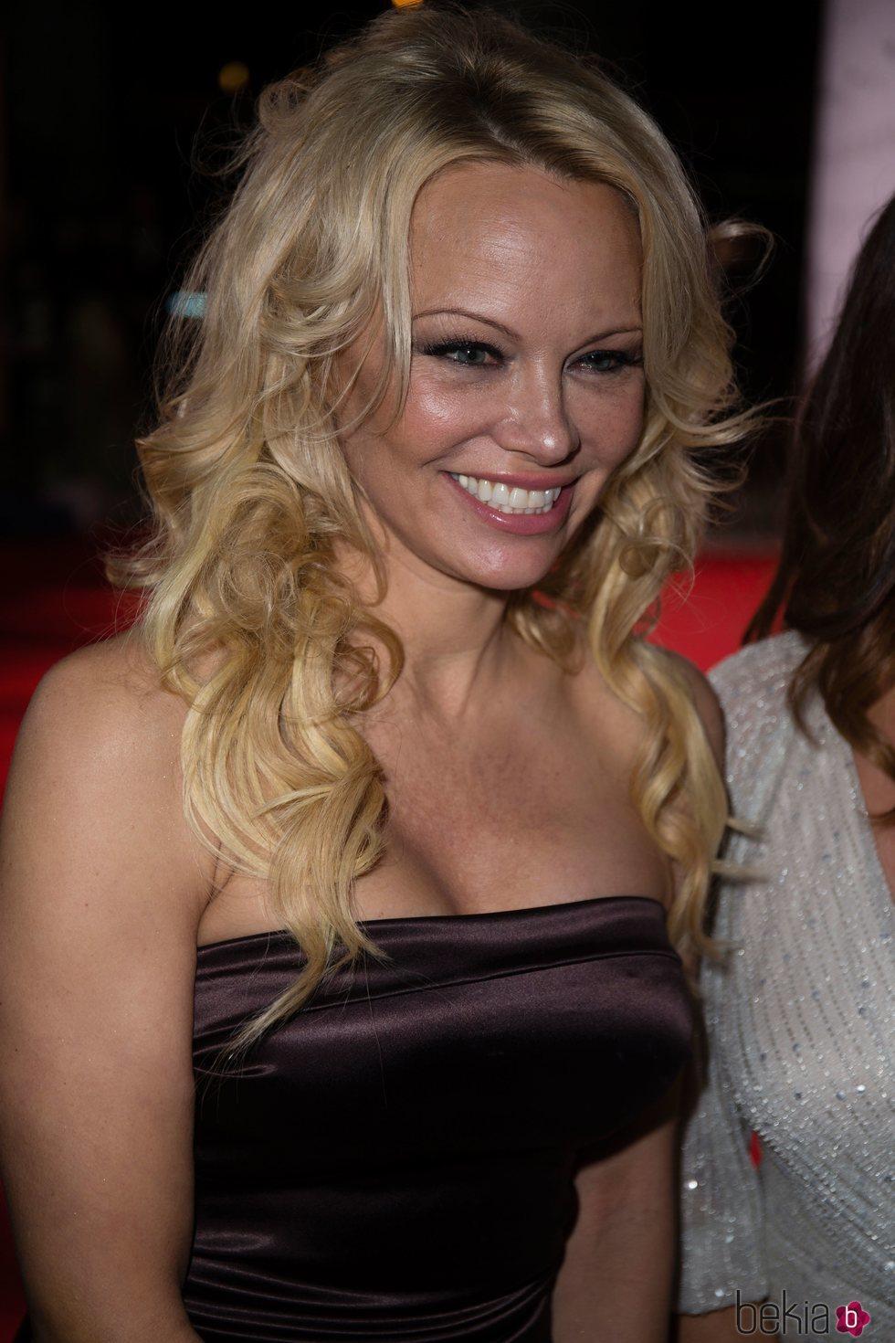 Pamela Anderson en la fiesta de Global Gift de Madrid de 2018