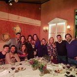 Paula Echevarría junto a Miguel Torres y demás amigos