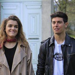 Alfred y Amaia grabando la postal de Eurovisión en las Azores
