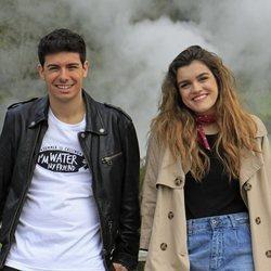 Amaia y Alfred, muy sonrientes en las Azores