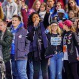 Jennifer Hudson en la marcha multitudinaria contra las armas en EEUU