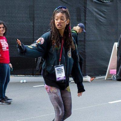 Willow Smith en la marcha multitudinaria contra las armas en EEUU