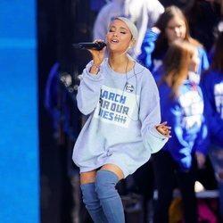 Ariana Grande en la marcha multitudinaria contra las armas en EEUU