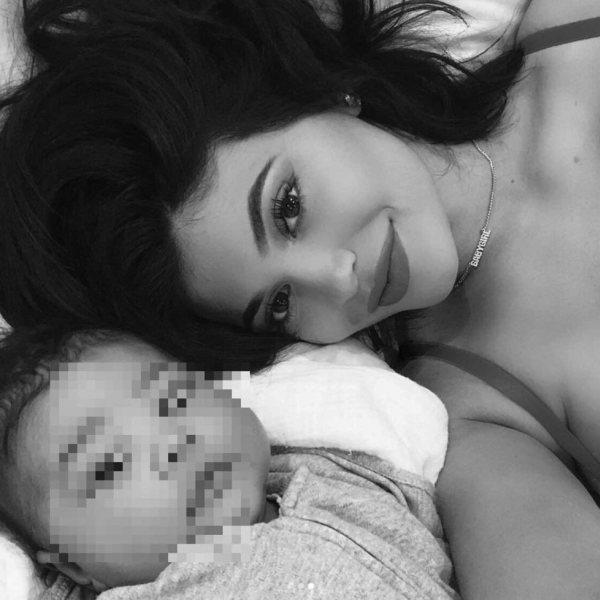 La felicidad de Kylie Jenner tras estrenarse como madre