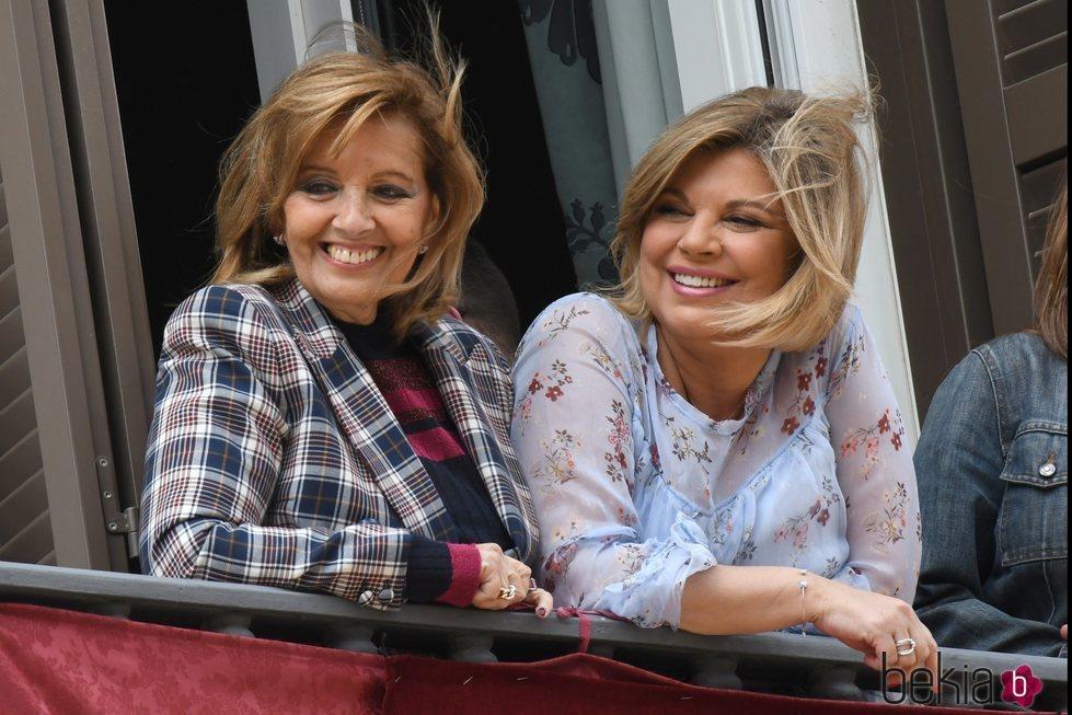 María Teresa Campos y Terelu Campos en la Semana Santa de Málaga