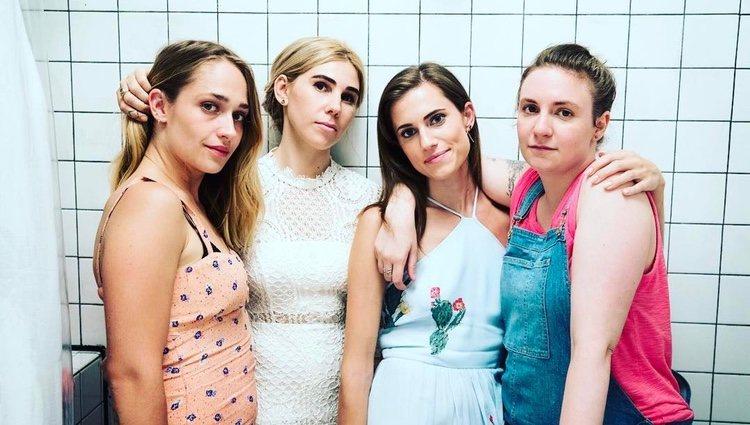 Las actrices de 'Girls' durante el rodaje del penúltimo capítulo de la serie