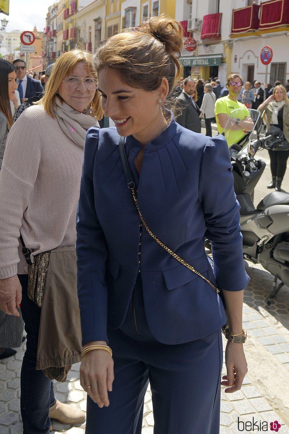 Lourdes Montes en la Semana santa de Sevilla 2018