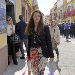 Cayetana Rivera, muy floreada en la Semana Santa de Sevilla 2018