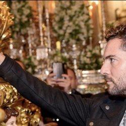 David Bisbal disfrutando de la Semana Santa de Almería 2018