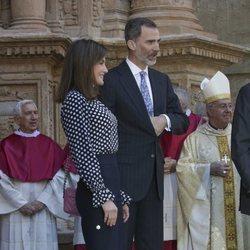 Los Reyes Letizia y Felipe VI en la Misa de Pascua 2018
