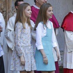 La Princesa Leonor y la Infanta Sofía en la Misa de Pascua 2018