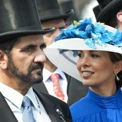El Emir de Dubai y Haya de Jordania en 2010