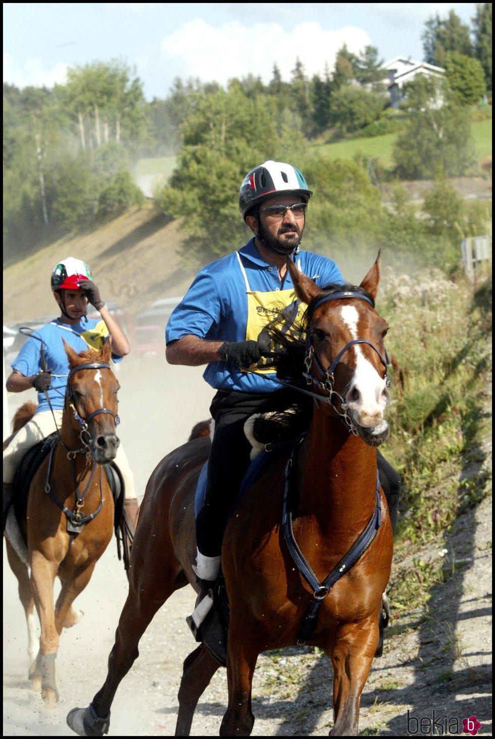El Emir de Dubai en un campeonato de hípica
