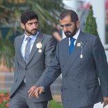 El Emir de Dubai y el Príncipe heredero en Epsom en 2017