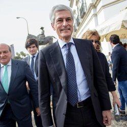 Adolfo Suárez Illana en la corrida del Domingo de Resurrección 2018 de Sevilla