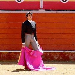 Cayetano Rivera en un festival taurino de Vera tras estrenarse como padre