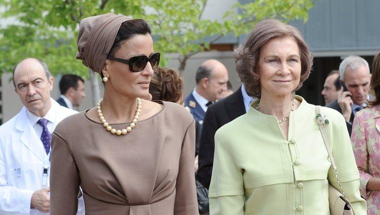 La Jequesa de Catar con la Reina Sofía