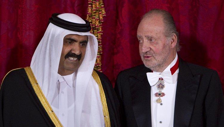 El Emir de Catar, Hamad bin Khalifa Al-Thani, con el Rey Juan Carlos
