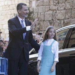 El Rey Felipe y la Infanta Sofía en la Misa de Pascua 2018