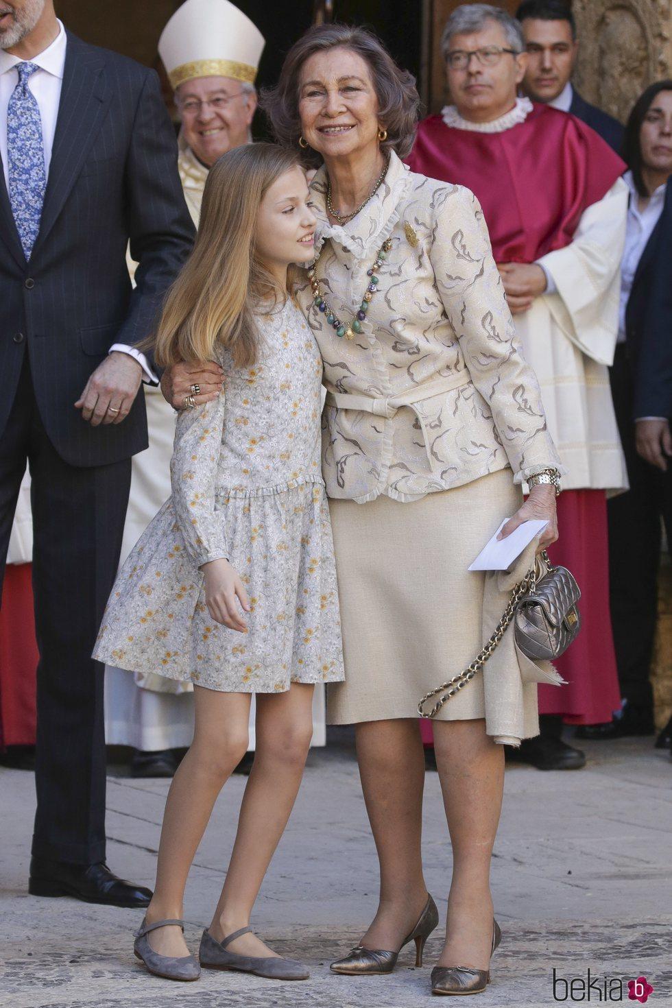 La Reina Sofía, muy cariñosa con la Princesa Leonor