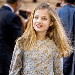 La Princesa Leonor en la Misa de Pascua 2018