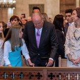 Los Reyes Juan Carlos y Sofía con la Princesa Leonor y la Infanta Sofía en la Misa de Pascua 2018