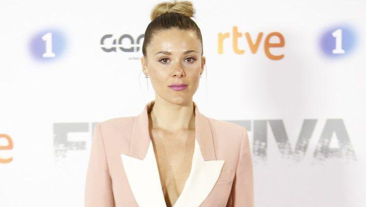 Lorena Gómez en la premier de la serie 'Fugitiva'