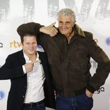 Fernando Romay y Jota Abril en la premier de la serie 'Fugitiva'