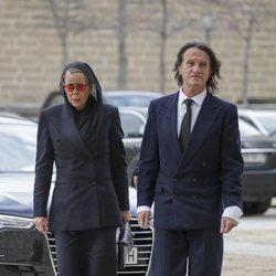 Kalina de Bulgaria y Kitín Muñoz en la misa por el 25 aniversario de la muerte del Conde de Barcelona