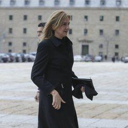 La Infanta Cristina en la misa por el 25 aniversario de la muerte del Conde de Barcelona