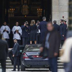 Los Reyes Felipe y Letizia a su llegada a la misa por el 25 aniversario de la muerte del Conde de Barcelona