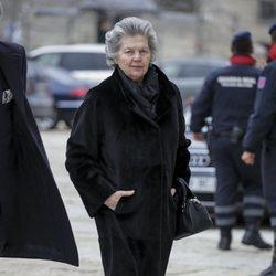 Ana de Orleans en la misa por el 25 aniversario de la muerte del Conde de Barcelona