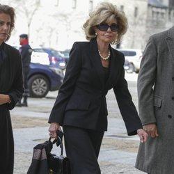 Tessa de Baviera en la misa por el 25 aniversario de la muerte del Conde de Barcelona