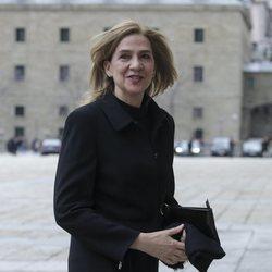 La Infanta Cristina acude a la misa por el 25 aniversario de la muerte del Conde de Barcelona