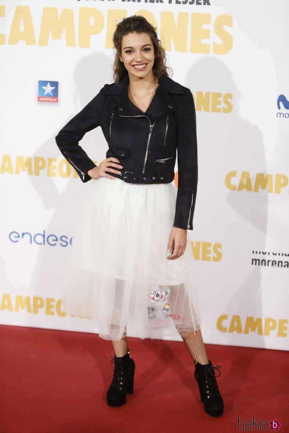 Ana Guerra en la premier de la película 'Campeones'