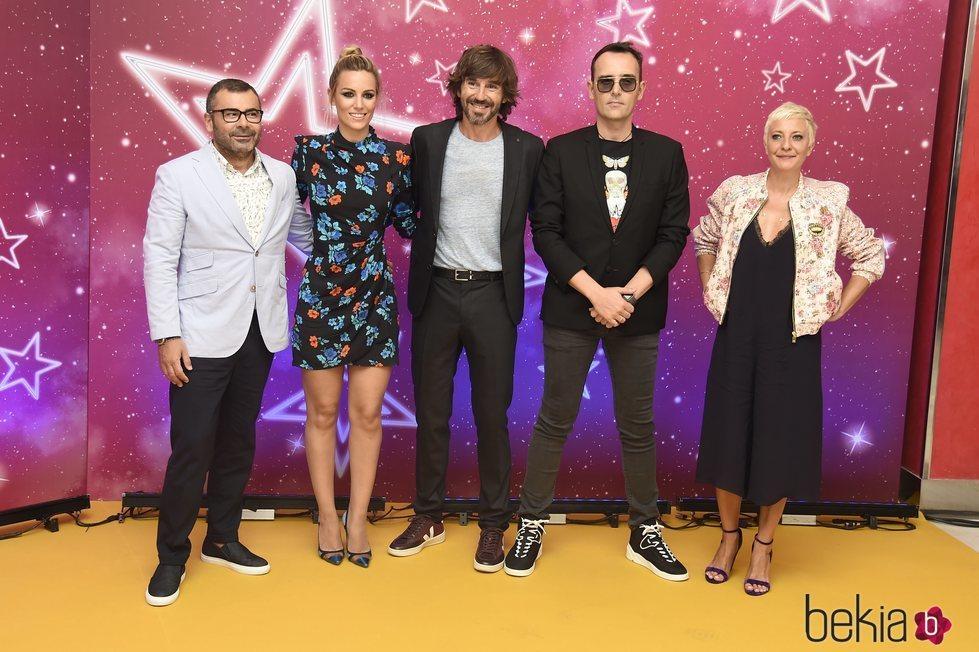 Eva Hache, Edurne, Jorge Javier Vázquez, Risto Mejide y Santi Millán en la presentación de 'Got Talent'