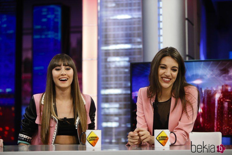Aitana y Ana Guerra en su visita a 'El Hormiguero'
