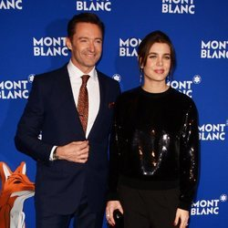 Hugh Jackman y Carlota Casiraghi en el evento de Montblanc