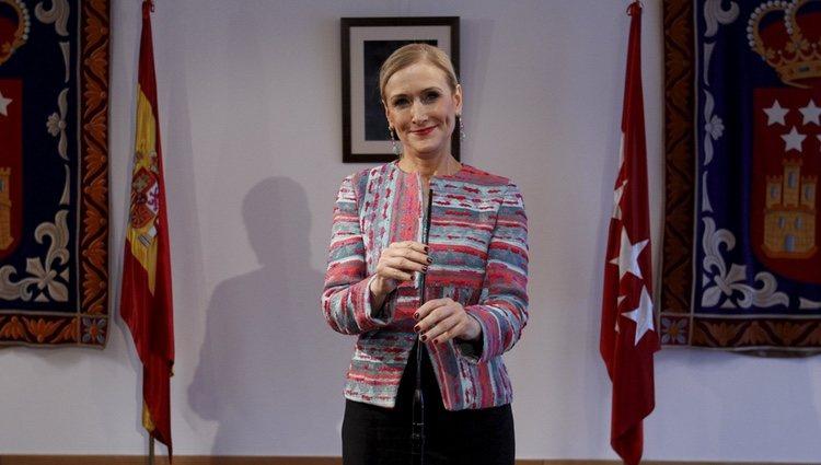 Rueda de prensa de Cristina Cifuentes para dar explicaciones sobre su máster