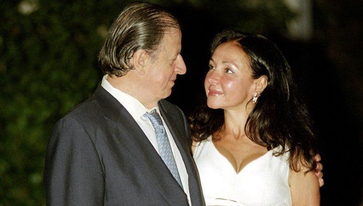 Esther Koplowitz en su boda con Fernando Falcó en el año 2003