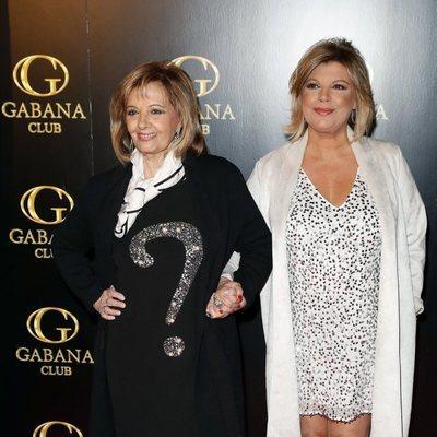 Terelu Campos y María Teresa Campos en el cumpleaños de Alejandra Rubio