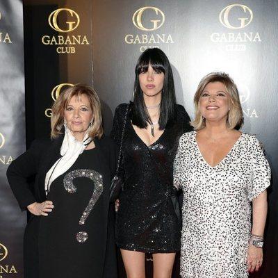 Alejandra Rubio, Terelu Campos y María Teresa Campos en el cumpleaños de la joven