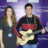 Amaia Romero y Alfred García durante su gira eurovisiva en Londres