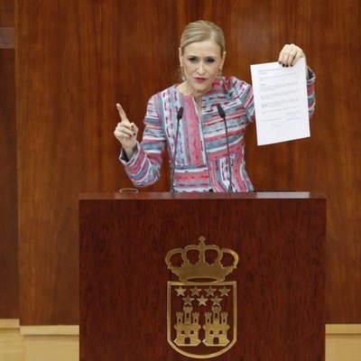 La presidenta de la Comunidad de Madrid en la Asamblea de Madrid